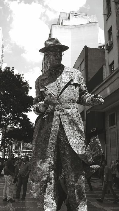 Blackandwhite Human Statue