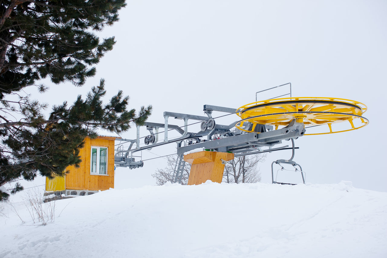 Nature Outdoors Ropeway Ski Skiing Snow Winter Wintertime