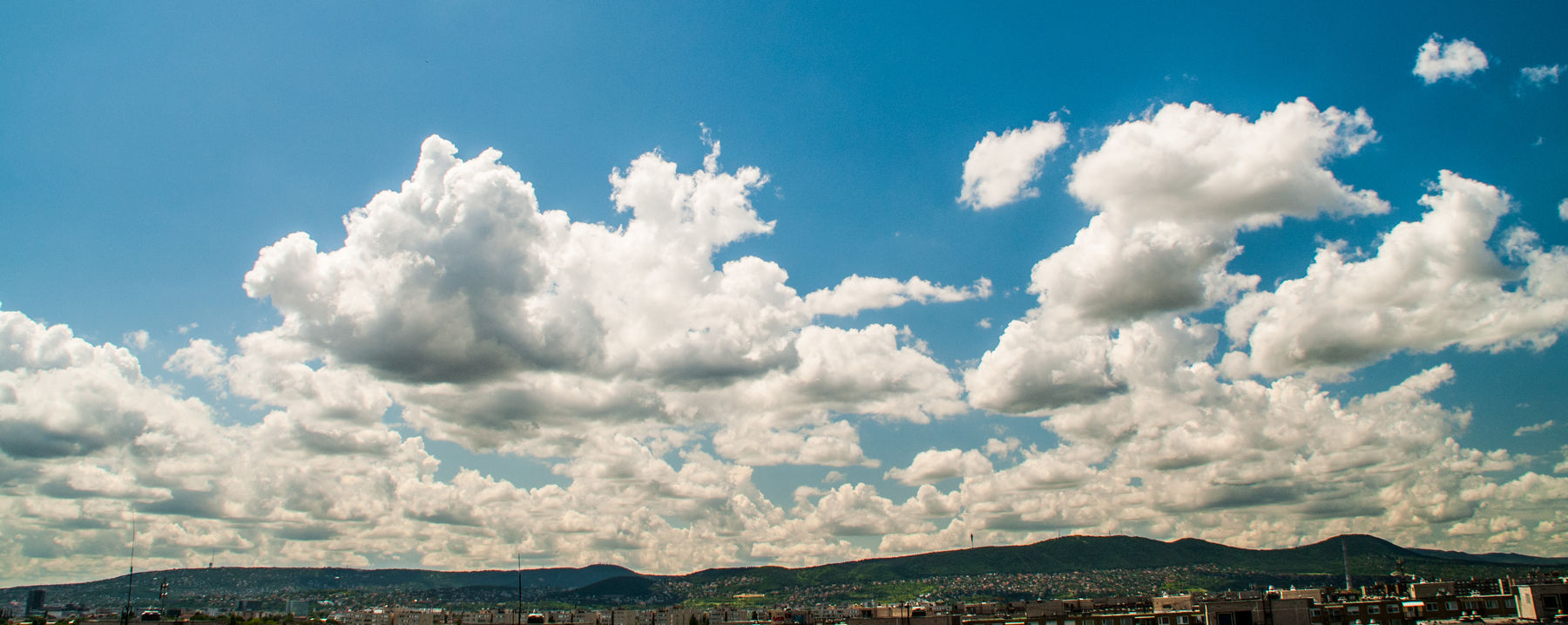 Blue Blue And White Cloud - Sky Clouds Contrast Day Felhők Freedom Hills In The Distance Hármashatár-hegy No People Outdoors Sky