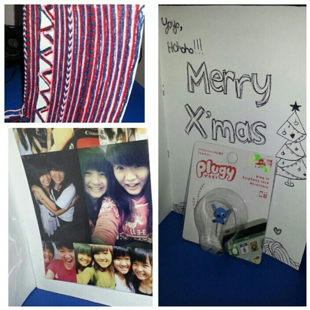 One of my christmas present ♥ Nicecard Photo Stitch EarPhonePlug Christmas 2012