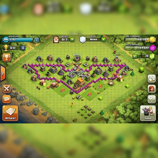This game killin my time yet m madely in love its so creative game CoC Myclan Batman Level46 diggin & looting golds and elixirs Squareinstapic @ 😂😂😊