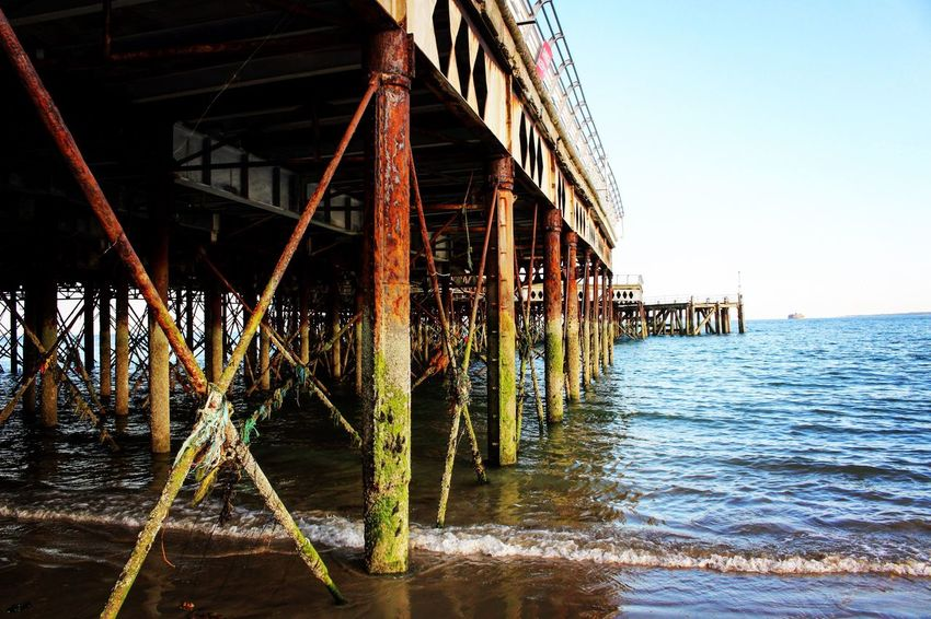 Sea Water Clear Sky Beach Outdoors Architecture Nature No People Day Sky Pier Blue Built Structure Architecture