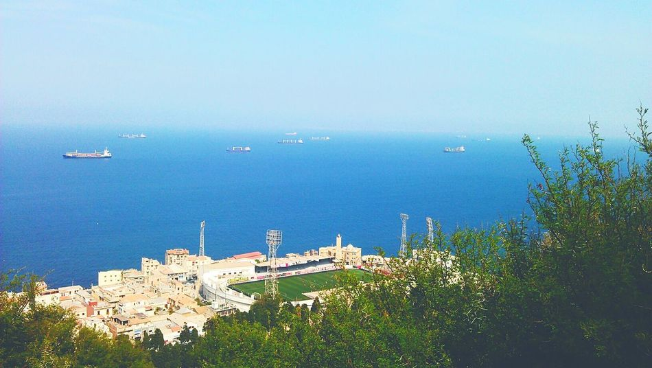 Beo Algeria Alger Bouloughine Stadium Stade Forest Foret Sky And Sea Plage