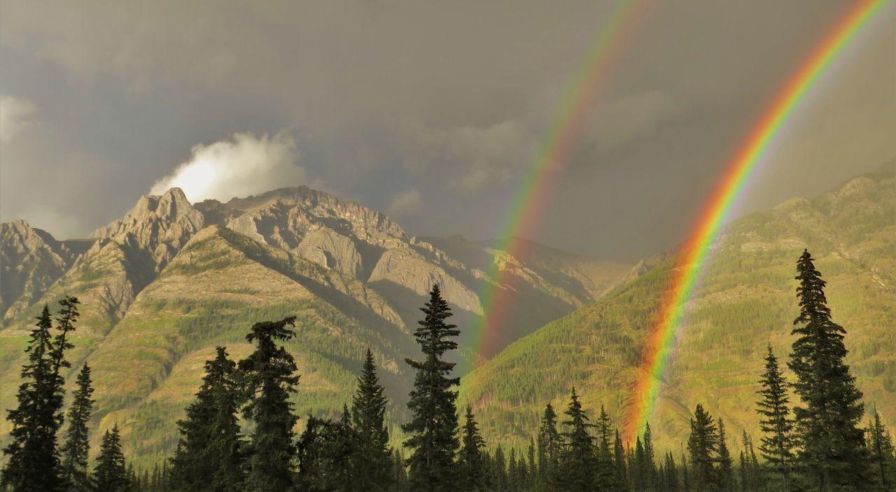 Beautiful stock photos of rainbow, Beauty In Nature, Cloud - Sky, Day, Double Rainbow