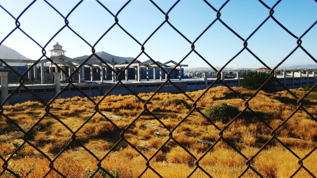 Chainlink Fence Fence Security Safety Protection Metal Sky Outdoors Exclusion No People City Wire Mesh Day Lock Architecture