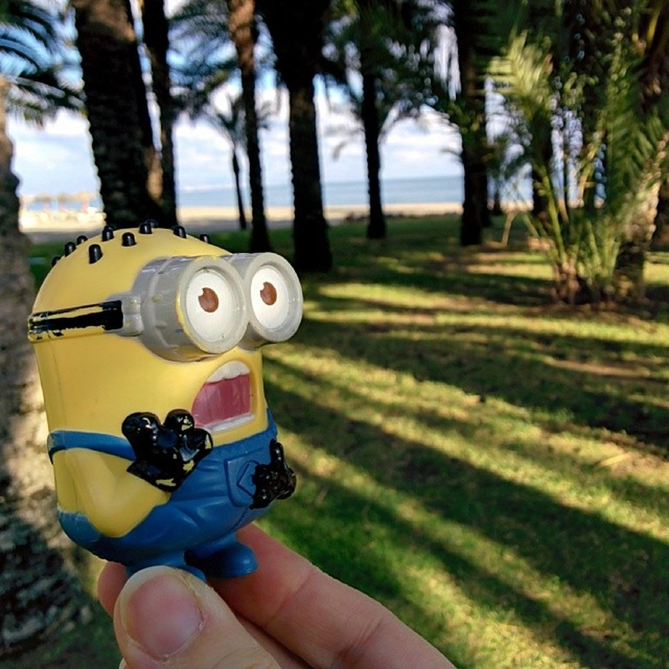 El Minionviajero se convierte en el Minionplayero . Traveller Minion  is now at the beach!
