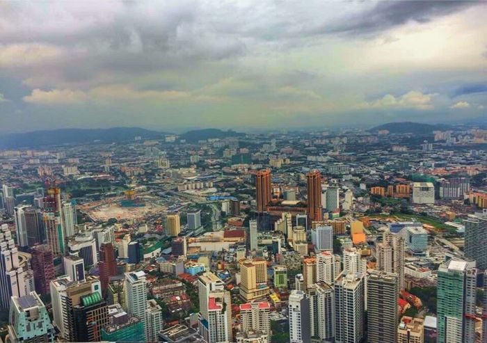 Kuala Lumpur Skyline. Taken Dec 2016 Cityscape City Architecture Building Exterior Tower Travel Destinations Aerial View Sky Urban Skyline Day