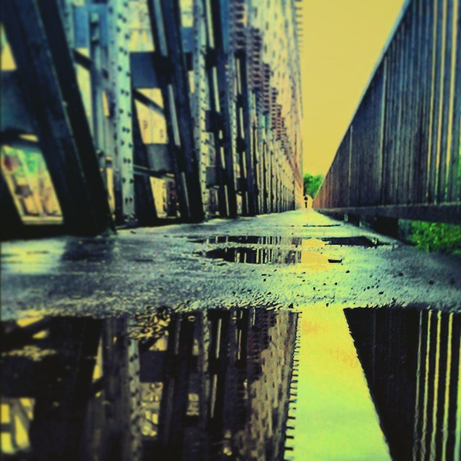 Down by the river Rainy But Beauty Reflection Mirrors Budapest Obuda Downbytheriver Waitingforyou Steel Life