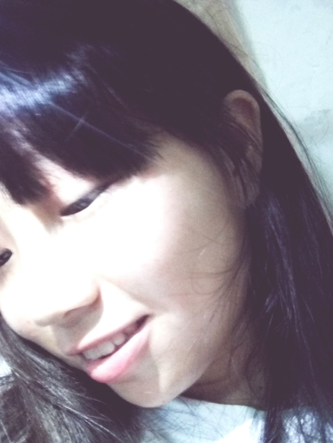 my friends,she is happy!today! One Young Woman Only Black Hair Close-up Long Hair Young Women People