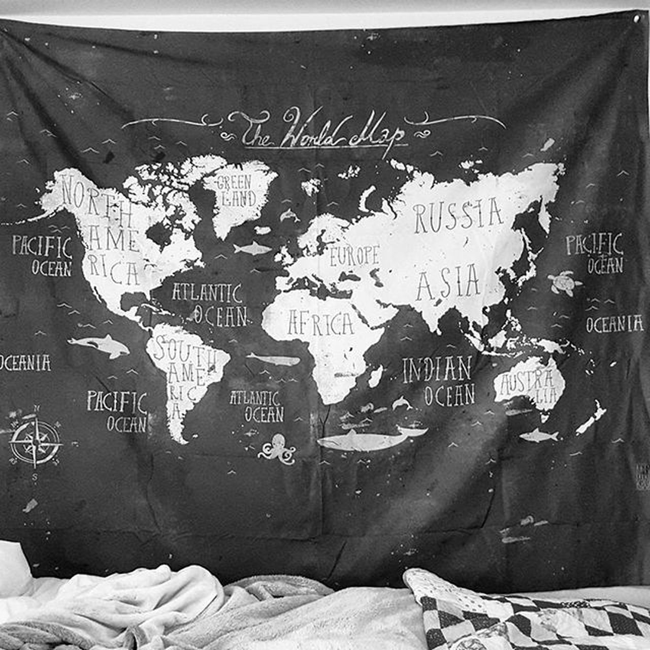 The new wall tapestry! 😍 Love Worldmap Walltapestry