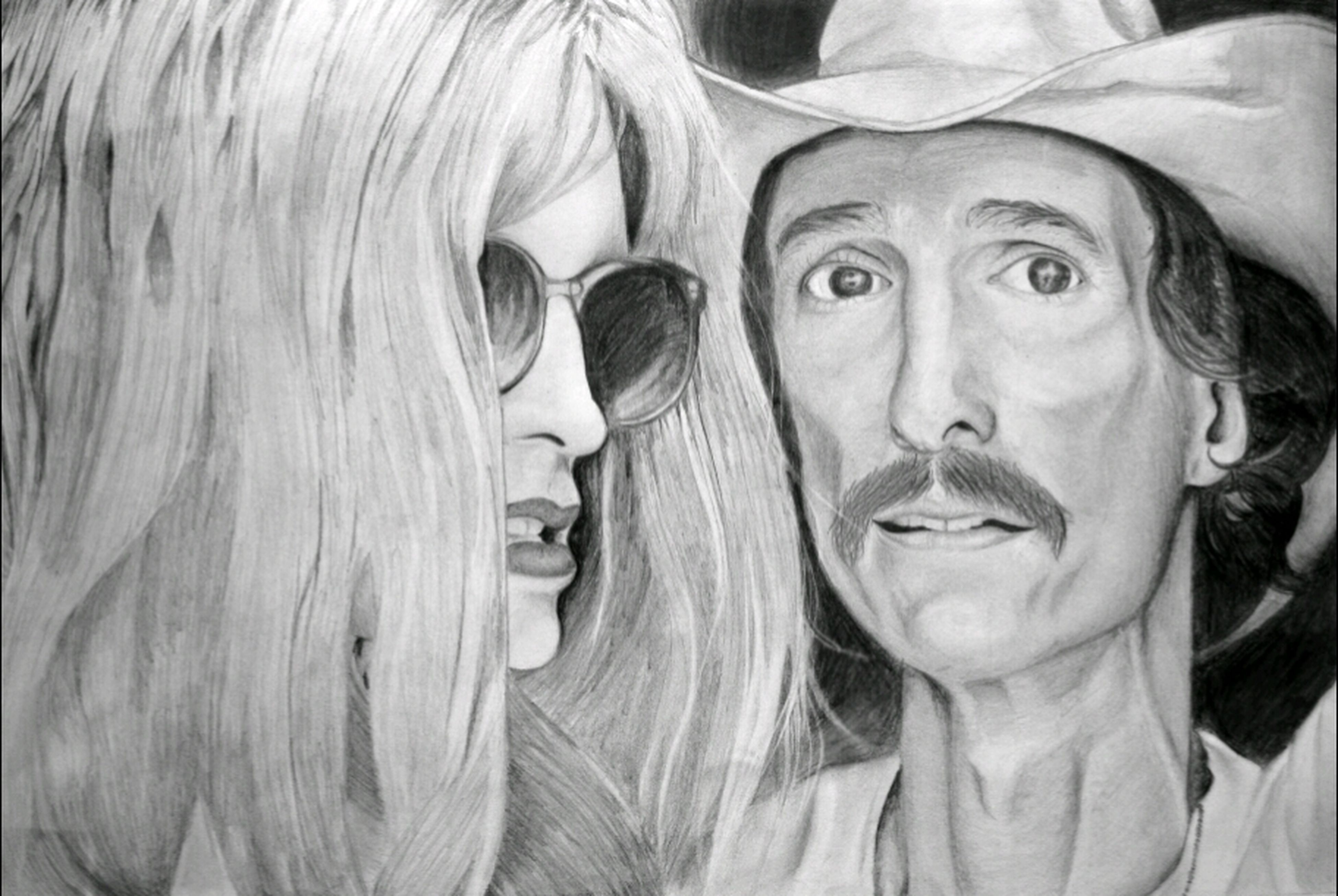 my art of Rayon and Ron Woodrof from amazing movie Dallas Buyers Club. :) Art Rayon Ron Woodrof Dallas Buyers Club