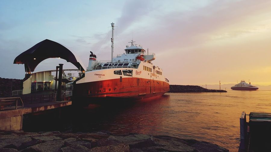 EyeEm Selects Ferry Water Sea Beach Sky Outdoors Night Sunset Nautical Vessel No People Nature
