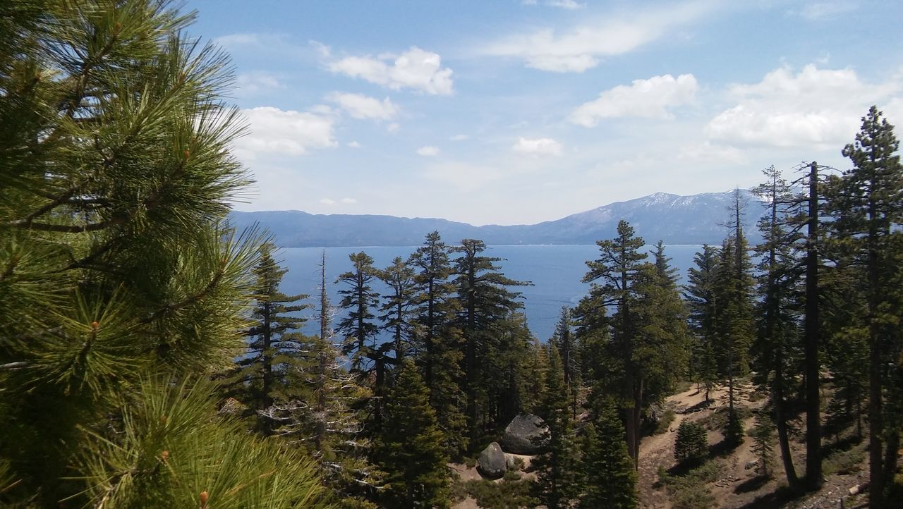 Lake Tahoe Untouched Photo Landscape Nature Clouds And Sky Pic Of The Day Water Mountains LG Phone Camera
