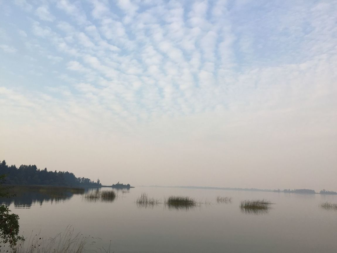 big view smokey day at Zumwalt Beauty In Nature Big View Cloud - Sky Day Lake Nature No People Outdoors Scenics Sky Smokey Day Tranquil Scene Tranquility Water Wildlife Reserve