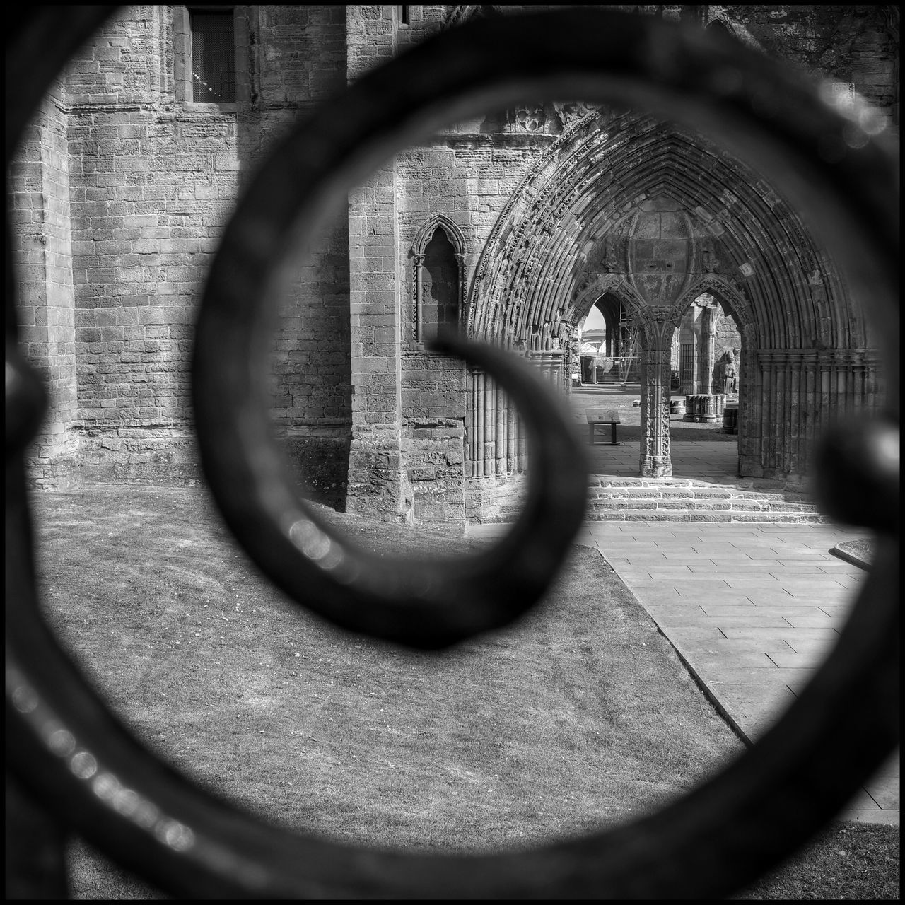 Spiral View Scotland Flaneur Historic Architecture Gothic Elgin Cathedral Ruins