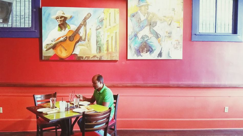 Dining Out Restaurant Decor Cubanfood EyeEm Colorful! Wall Painting Eating Out Street Photography Streetphoto_color Showcase: February Interior Views Here Belongs To Me