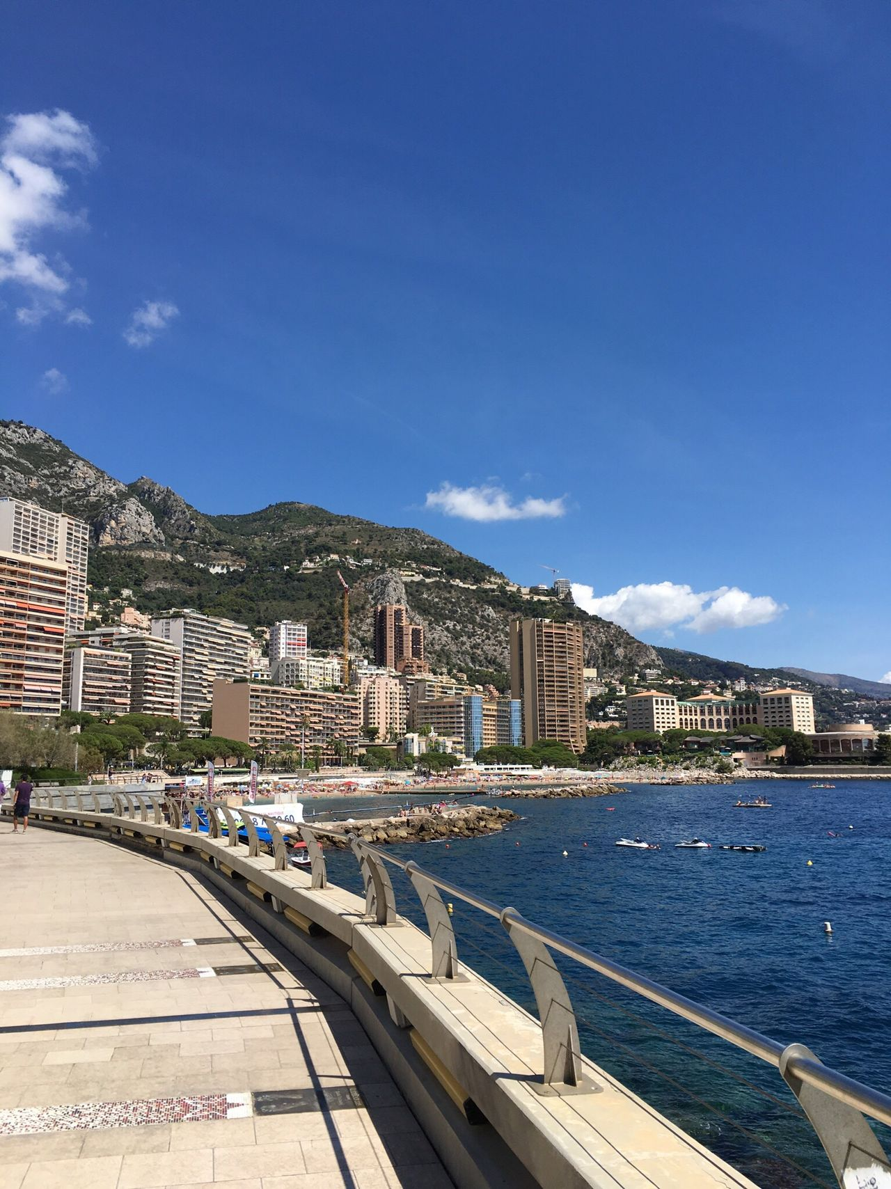 Sky Blue Residential Building City Cityscape Water Architecture Monaco