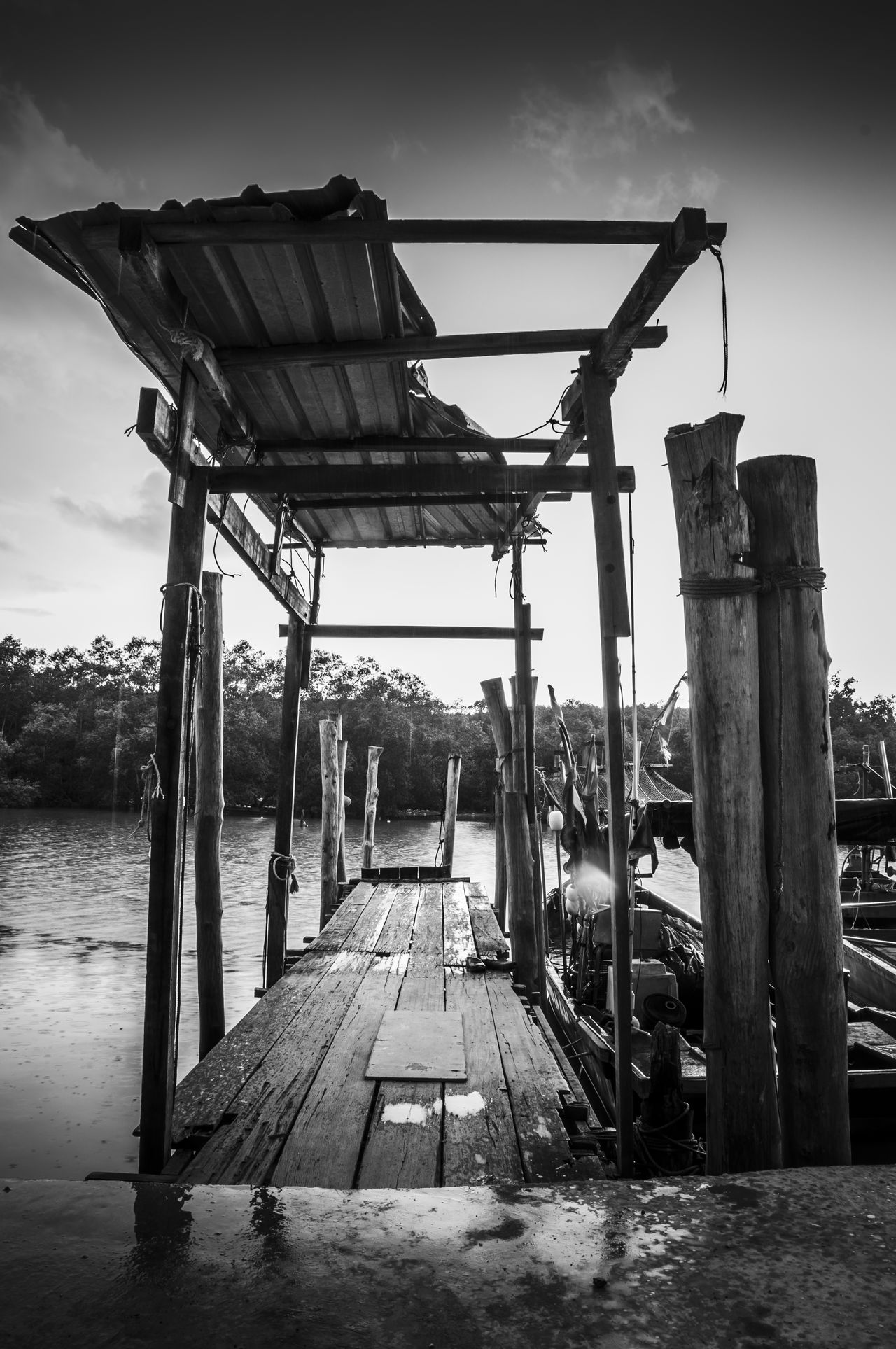 Black & White Photography Black And White Photography Calmness Clouds And Sky Day Fishermanvillage Getty Images Gettyimages Jetty View Landscapes With WhiteWall Nature Old Outdoors Pier Poles Rippled Water Ripples Seascapes Serenity Tranquil Scene Tranquility Water Waves Wood - Material Wooden