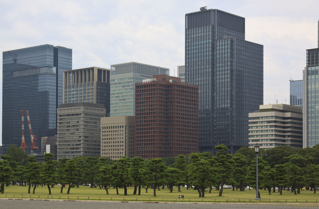 Tokyo skyline from Imperial palace Architecture ASIA Building Exterior Building Story Built Structure City Day Development Growth Japan Metropolis Modern Office Building Outdoors Park - Man Made Space Sky Skyscraper Tall Tall - High Tokyo Tower Tranquil Scene Tranquility Tree Urban Skyline
