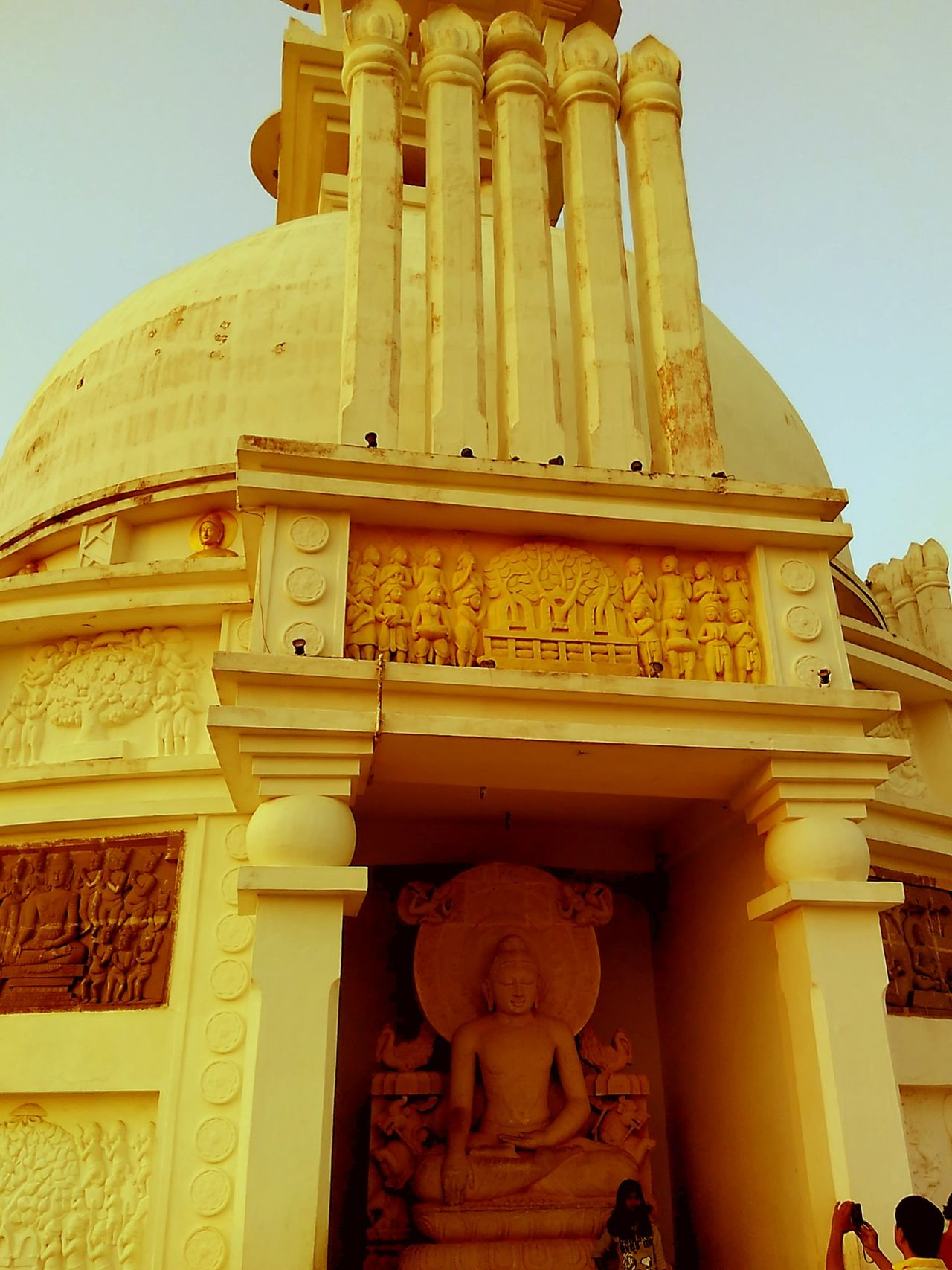 Yellow Temple Budhism Buddha Statue Travel Photography Pride Of India.