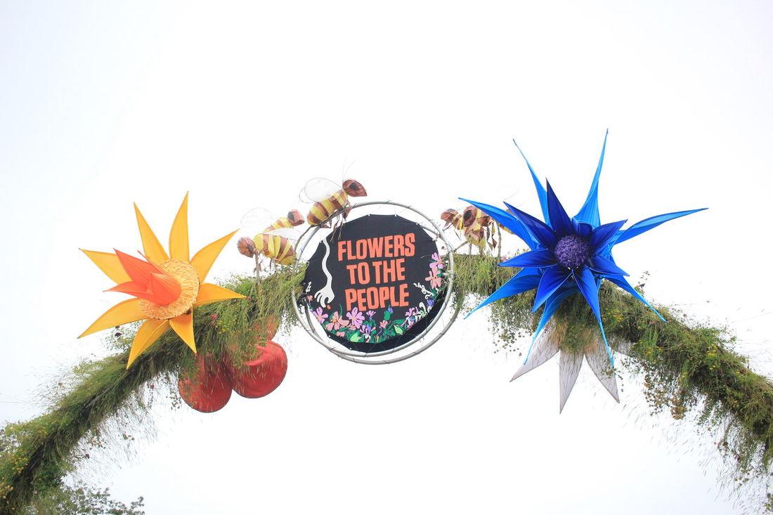 Glastonbury Music Festival Flowers People Colours Signage Ants Nofilter at Glastonbury Festival