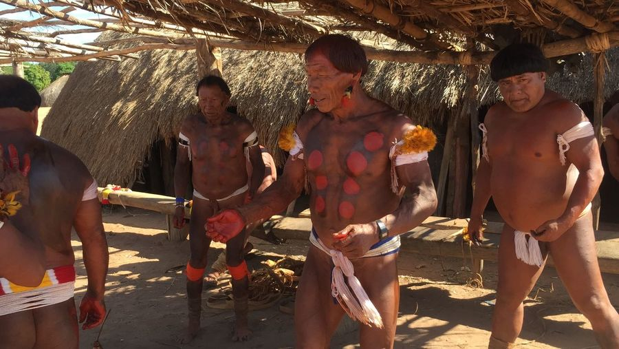 Untold Stories indian celebration of Kuarup at Alto Xingu Brasil Indians  Xingu Kuarup