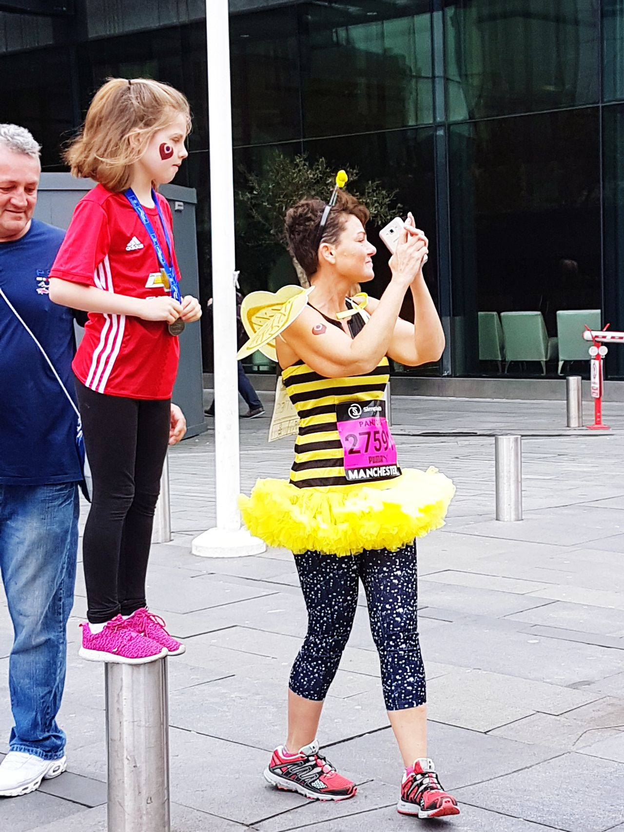 Full Length Young Women People Child Lifestyles Togetherness Girls Women Adult Friendship Unity Capturing The Moment Charity Event Outdoors Manchester UK Race Group Of People Great North Run Charity Real People City Life City Street Fancy Dress Running Runners