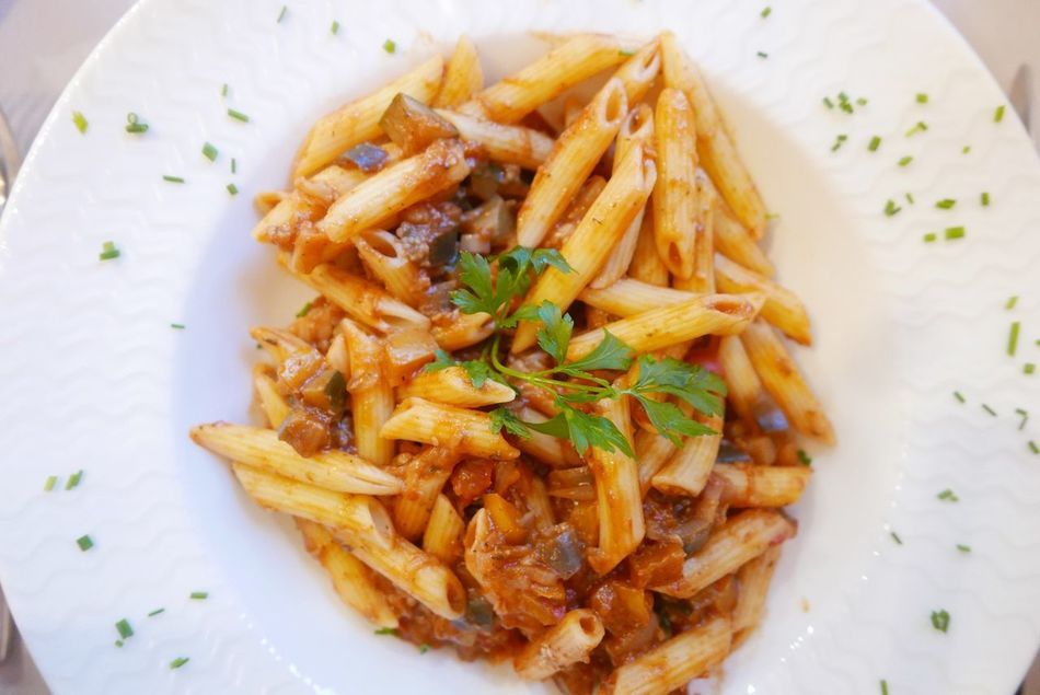 Pasta Penne At Table Provençale Mealtime Food Porn Awards