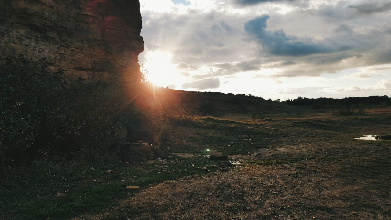 Quarry. Sky Nature Outdoors Sunset Tree Beauty In Nature Cloud - Sky Scenics No People Water Day Quarry Rock Rockface Rock Formation Dirty Puddle Evening Evening Sky Lincolnshire Lincoln Samsung Galaxy S6 VSCO