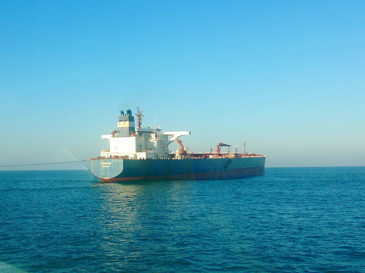 Supply on Anchorage Offshore Platform Sea Shipping  Oil Industry Tankers Vessel Anchorage Leixoes Matosinhos Porto _Portugal
