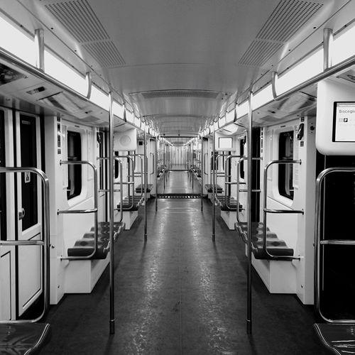 Subway Train Urban Interior Design Innovating Blackandwhite Milano Public Transportation Shades Of Grey