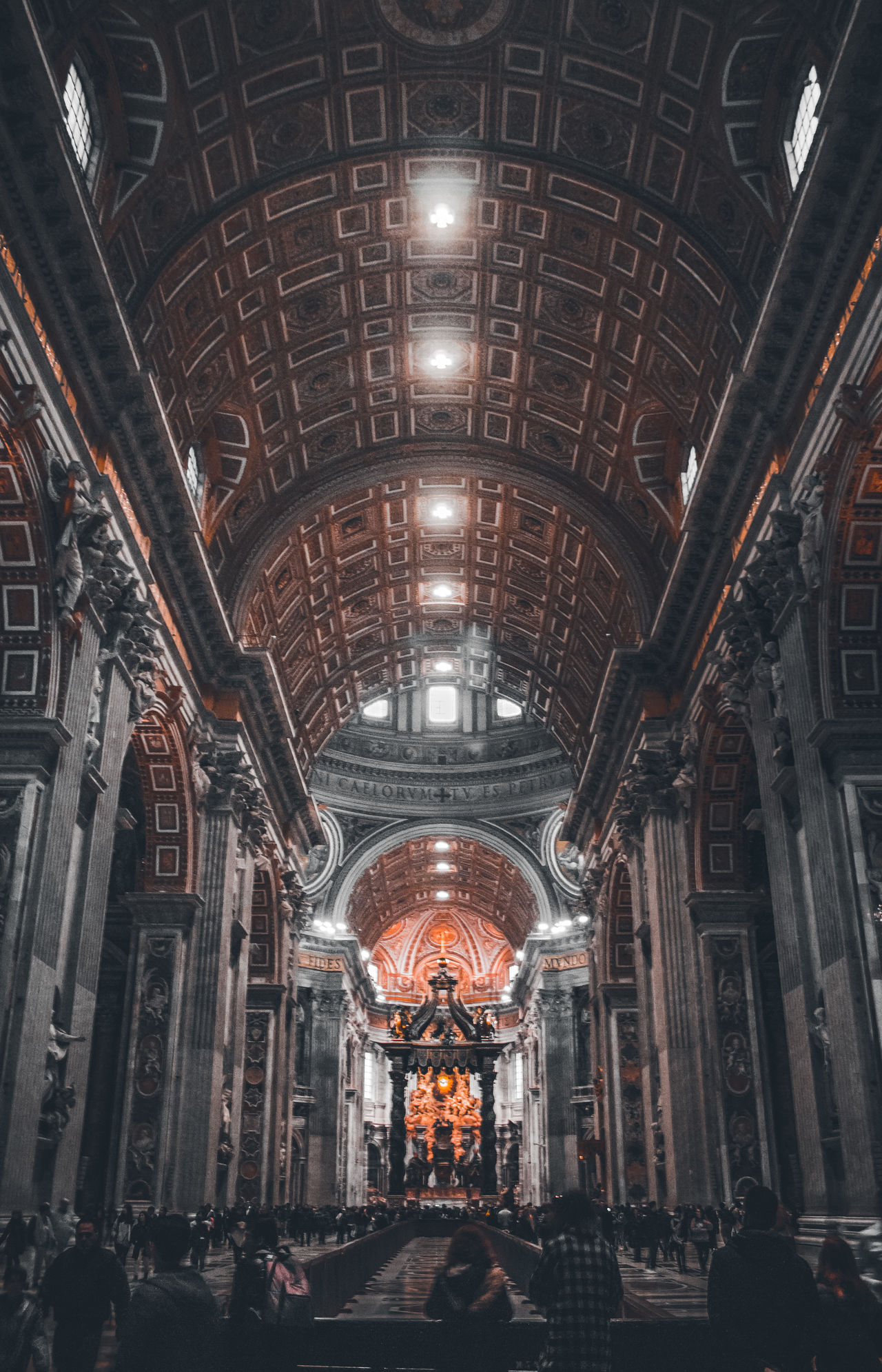 Indoors  No People Illuminated Day Church Italy Architecture EyeEm Best Shots Symmetry Traveling Exploring Europe Colors EyeEm EyeEm Best Edits EyeEm Gallery People Vatican City Cultures Religion Spirituality Place Of Worship Low Angle View Eye4photography  Built Structure