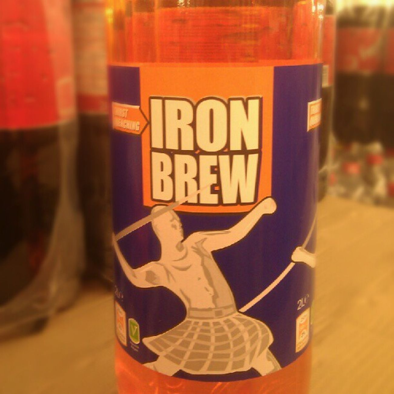 Wonder how long it takes until some lawyers take this on (seen at Aldi Luton) Irnbru