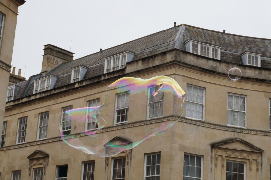 Bubble Bath City Centre Bath Bath City Historical Buildings Historical Place Huge Bubble Small Bubble Windows Stone Work Roof Rooftop See Through