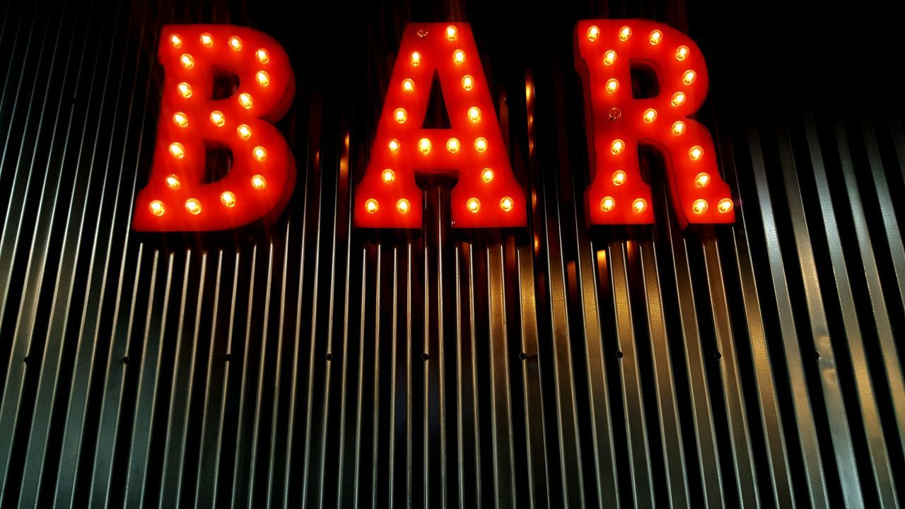illuminated, text, communication, no people, neon, red, retail, low angle view, open sign, night, outdoors, close-up
