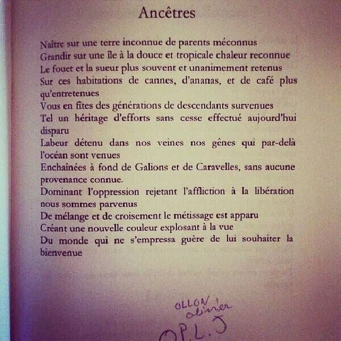 Le texte >>>> ✊✊ TeamAntillais Creole Magnifique Vérité
