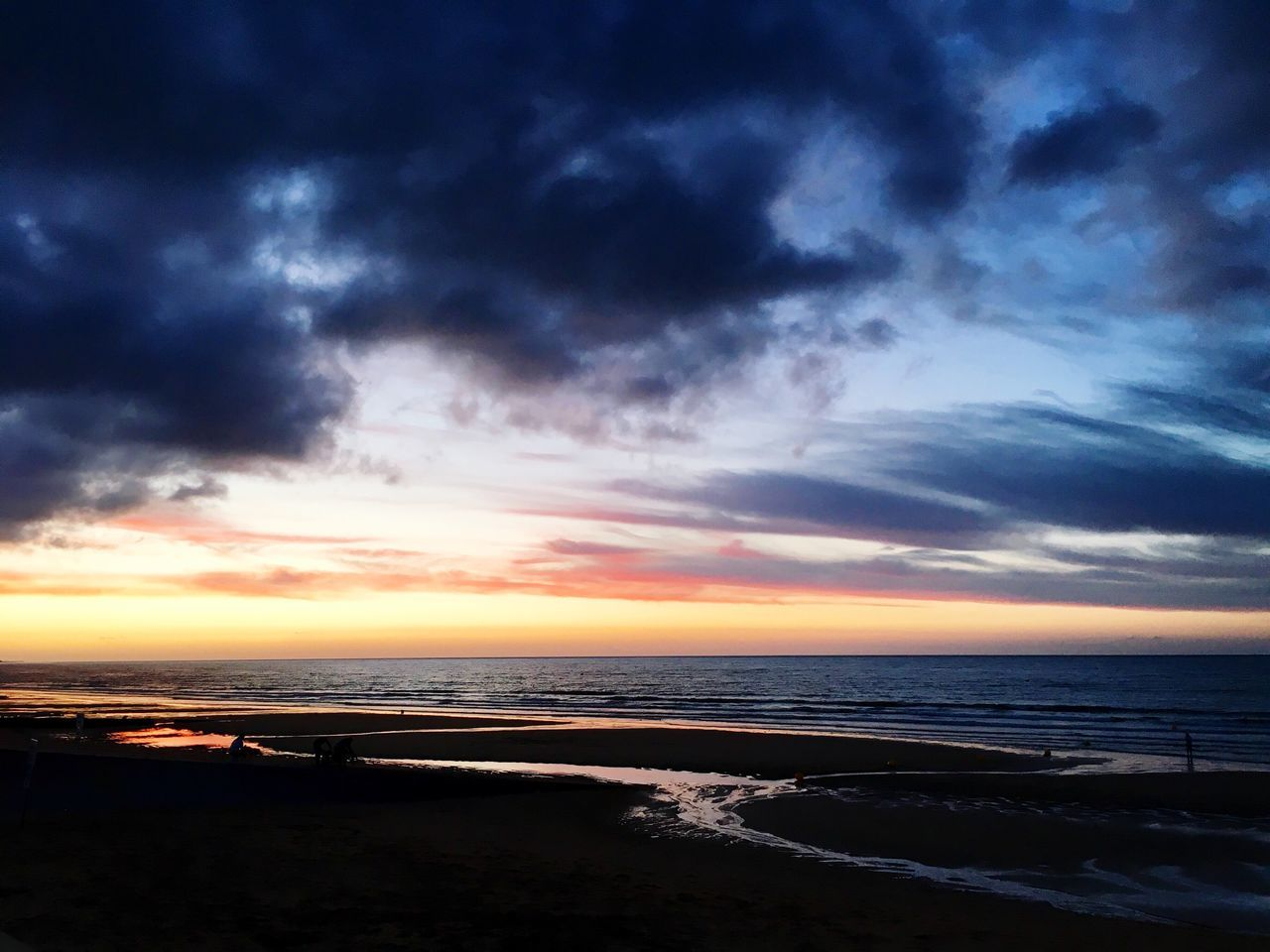 Dramatic Sky Over Calm Sea