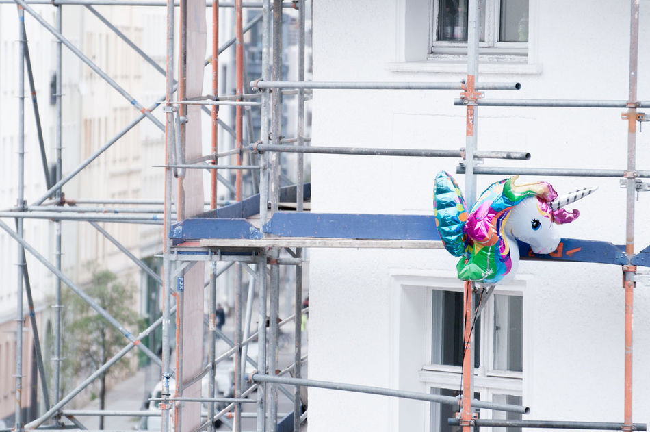 Beautiful stock photos of einhorn, hanging, built structure, multi colored, architecture