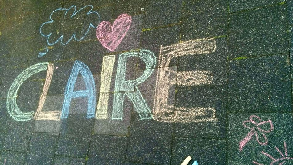 Claire playing with our friends in Munster. No People Human Representation Outdoors Day Close-up Full Frame Vacation Time Holiday Babygirl ♥ Streetart Playing Lifestyles Toddlerstyle Toddler  Sunlight Natural Light Photography Positive Vibes Imperfectly Perfect Writing On The Sidewalk Chalk Drawing Chalkpastel Chalk The Walk Chalk Art Claire Pastel Colors