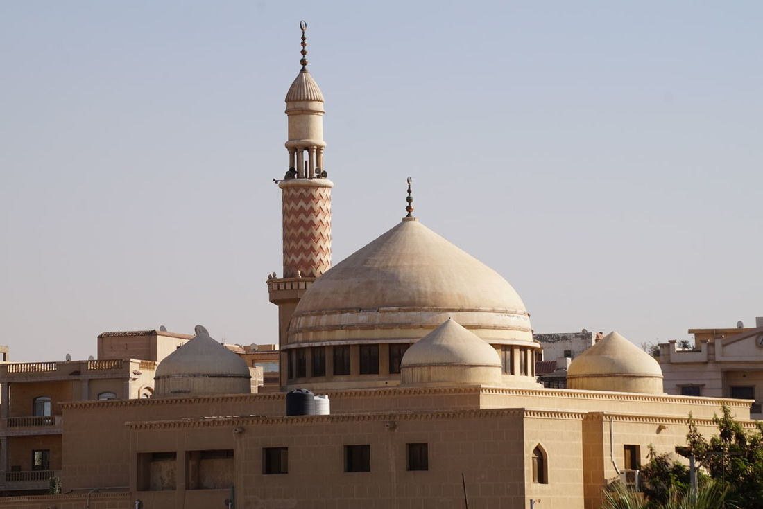Photo of a mosque in Cairo with a clear blue sky Clear Sky Dome Egypt Islam Islamic Mosque Mosque Dome No People Outdoors Religious Place