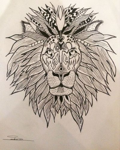 EyeEm Picoftheday Liontattoo Lion Ink Ornements Tattoo Drawing Art, Drawing, Creativity
