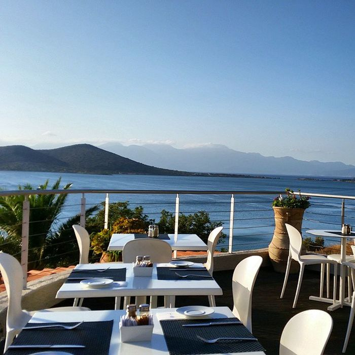 Up early for breakfast :) Elounda