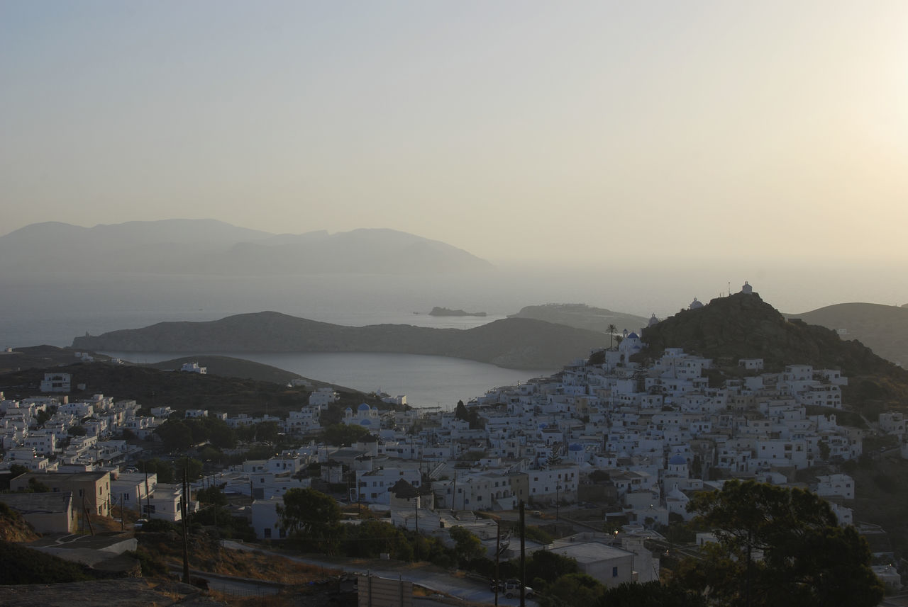 Sunset over Chora   Ios Beauty In Nature Chora City Greece Hilltop Hilltop View Ios Landscape Mountain Mountain Range Nature Night No People Outdoors Scenics Science Sea Sea And Sky Sky Sunset Tree