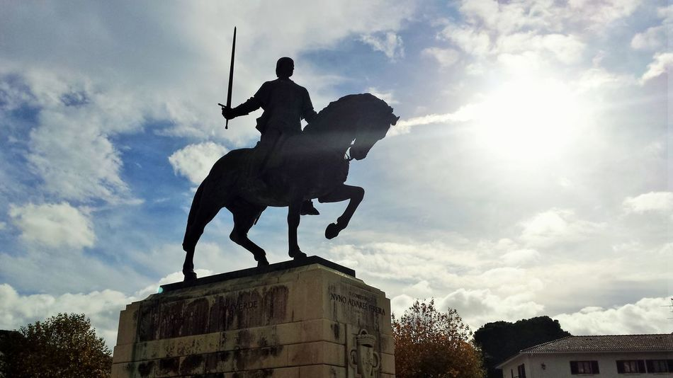 Animal Architecture BatalhaMonastery City Cloud - Sky Courage Day King - Royal Person Leiria No People Outdoors Portugal Sculpture Sky Sky And Clouds Statue Sword