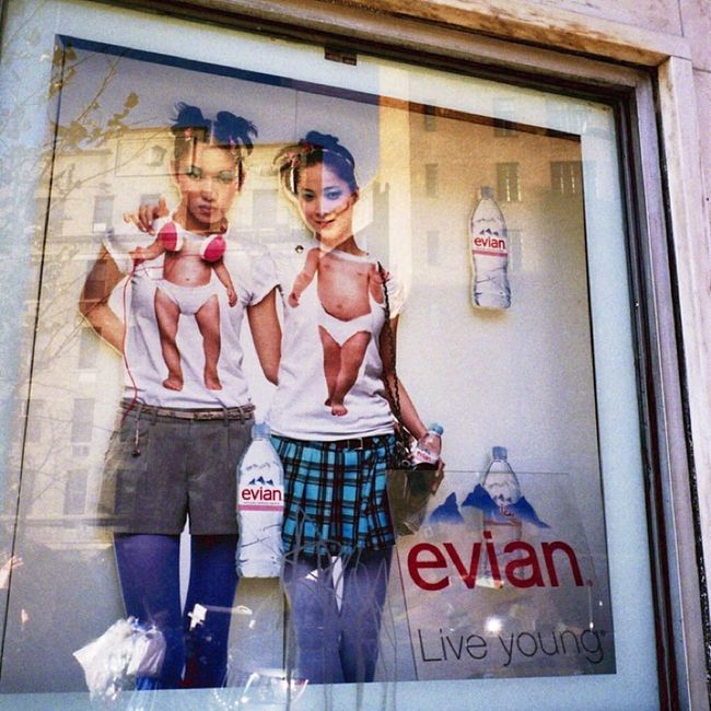 Weirdography Ad Evian Ad Greenwichvillage I Shoot Film Real Film Klasse W NYC Photography