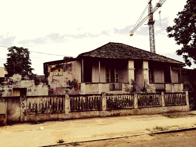 São Tomé Island, Old, Colonial, Paradise Cloud - Sky Abandoned Damaged Built Structure Cloud - Sky Sky Architecture No People Damaged House Abandoned Building Exterior Outdoors Horizontal Tree Day