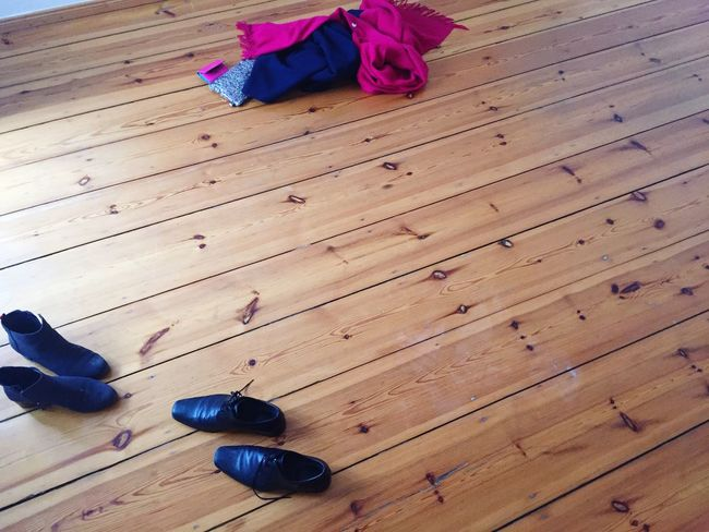 Moving Shoes Wooden Floor <3 .