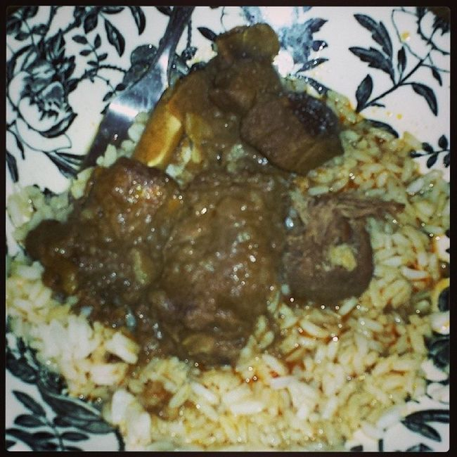 I wish this was breakfast!!! Dhall Rice Duckcurry Garammasala currypowder berbicianstyle homemade Guyanesestyle wukupdicurry indiangal mydailycravings lash