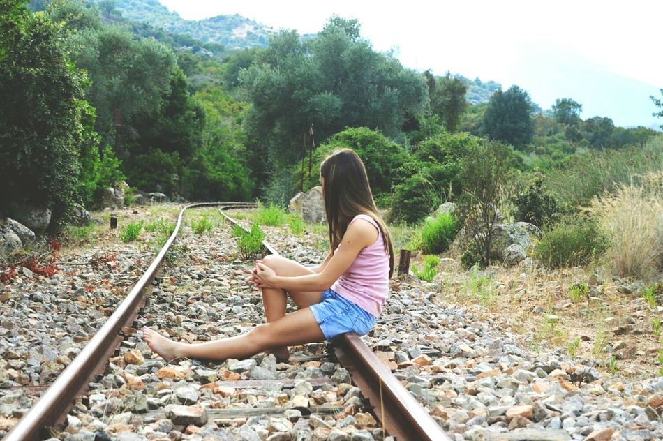 Full Length One Person Tree Day High Angle View Leisure Activity Water Outdoors People Childhood One Woman Only Nature Adult Adults Only Young Adult Train Train Station Traintracks Love ♥ Sardegnaofficial Reflections Streetphotography Outdoors Beauty In Nature Sardegna😍😍👍👌 Train Ride