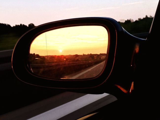 MeinAutomoment On The Way Sunset Sunset_collection Mirror
